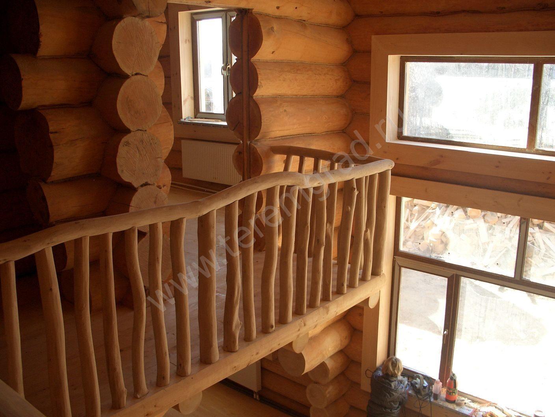 Вариант балкона в доме отделка дома из бревна под ключ. прое.
