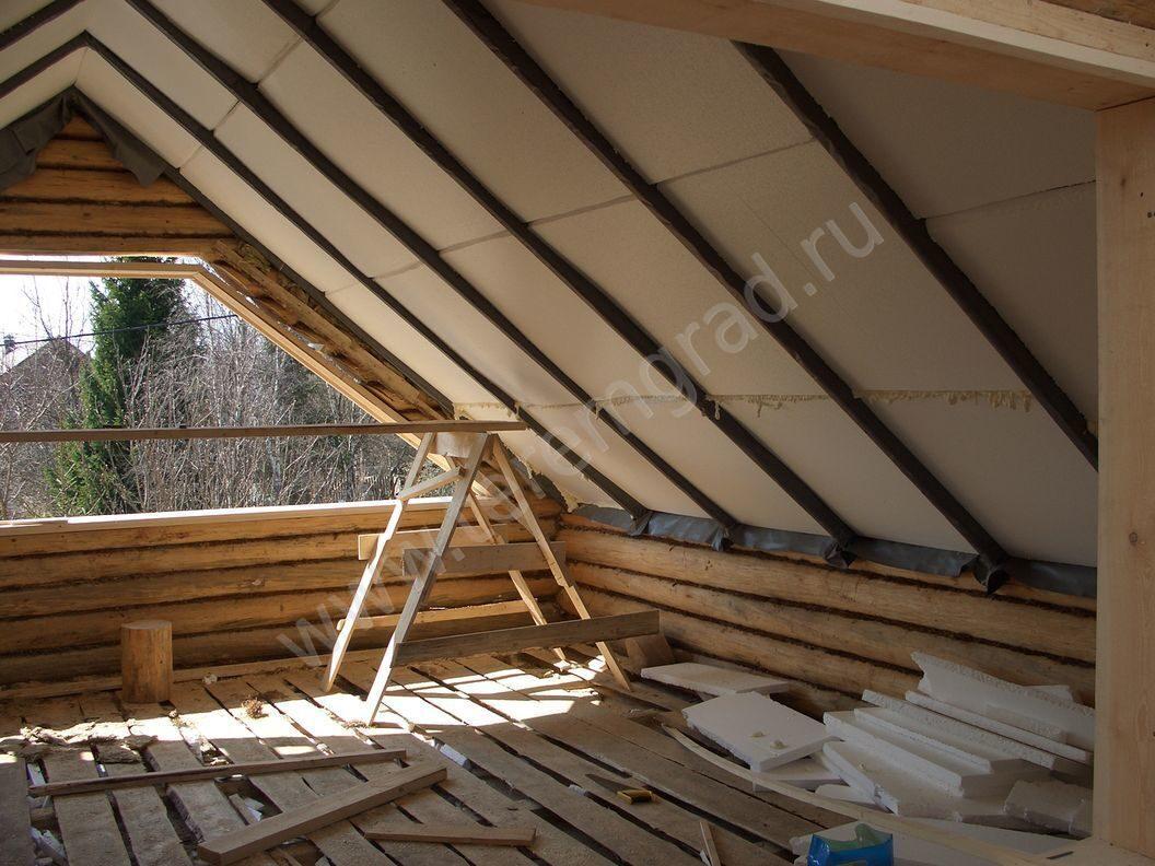 Деревянная мансарда на кирпичном доме своими руками 63