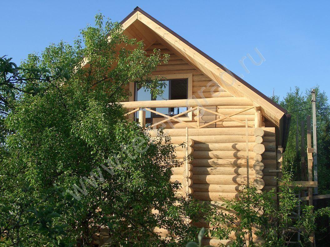 Отделка бревенчатого дома ручной рубки под ключ. проект дома.