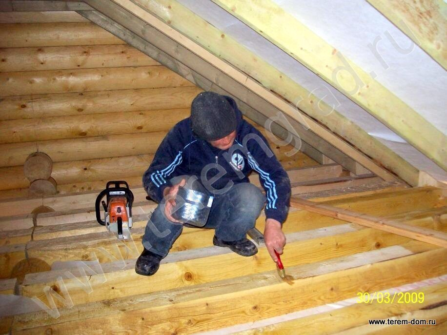 Как сделать черновой потолок в мансарде