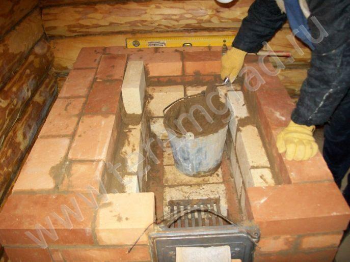 Строим печь в бане своими руками 203