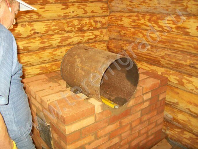 Печка в баню из кирпича своими руками