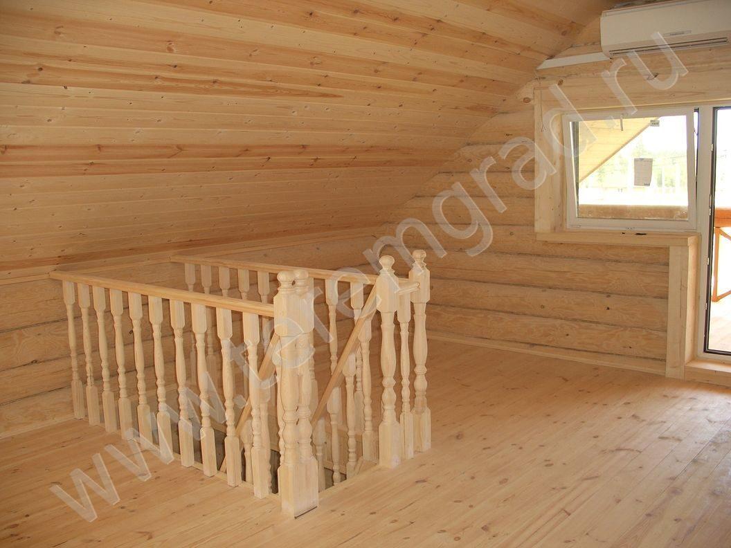 Лестница на мансарду фото варианты