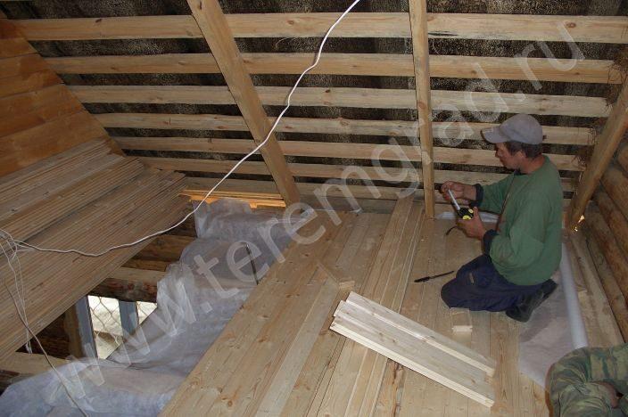 Как сделать пол на мансарде с деревянным перекрытием - Luboil.ru