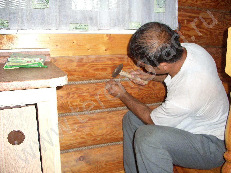 Заделка швов армированной лентой