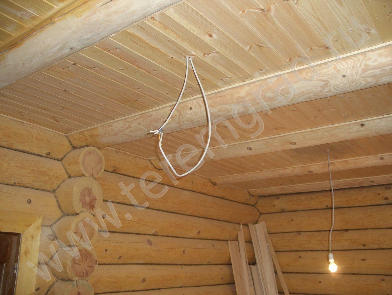 Как сделать потолок в брусовом доме фото