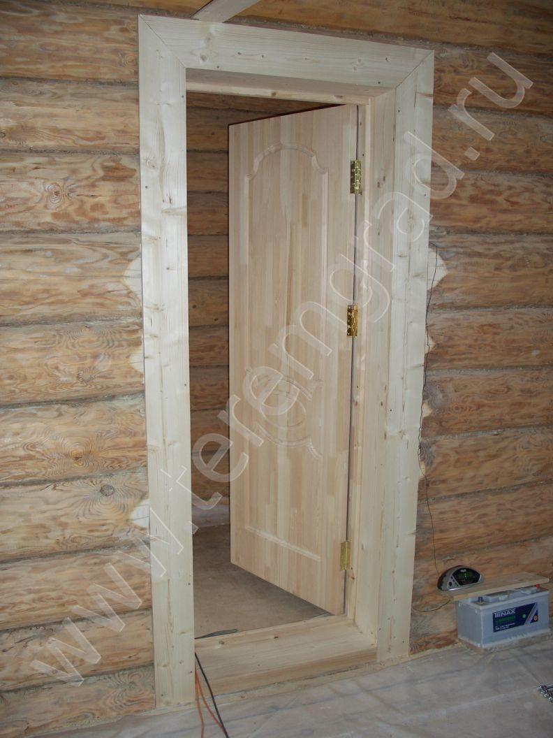 дверь входная для сруба
