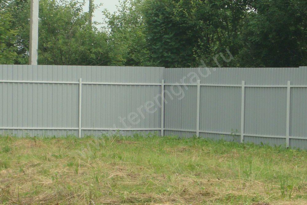 Забор из профлиста для дачи 109