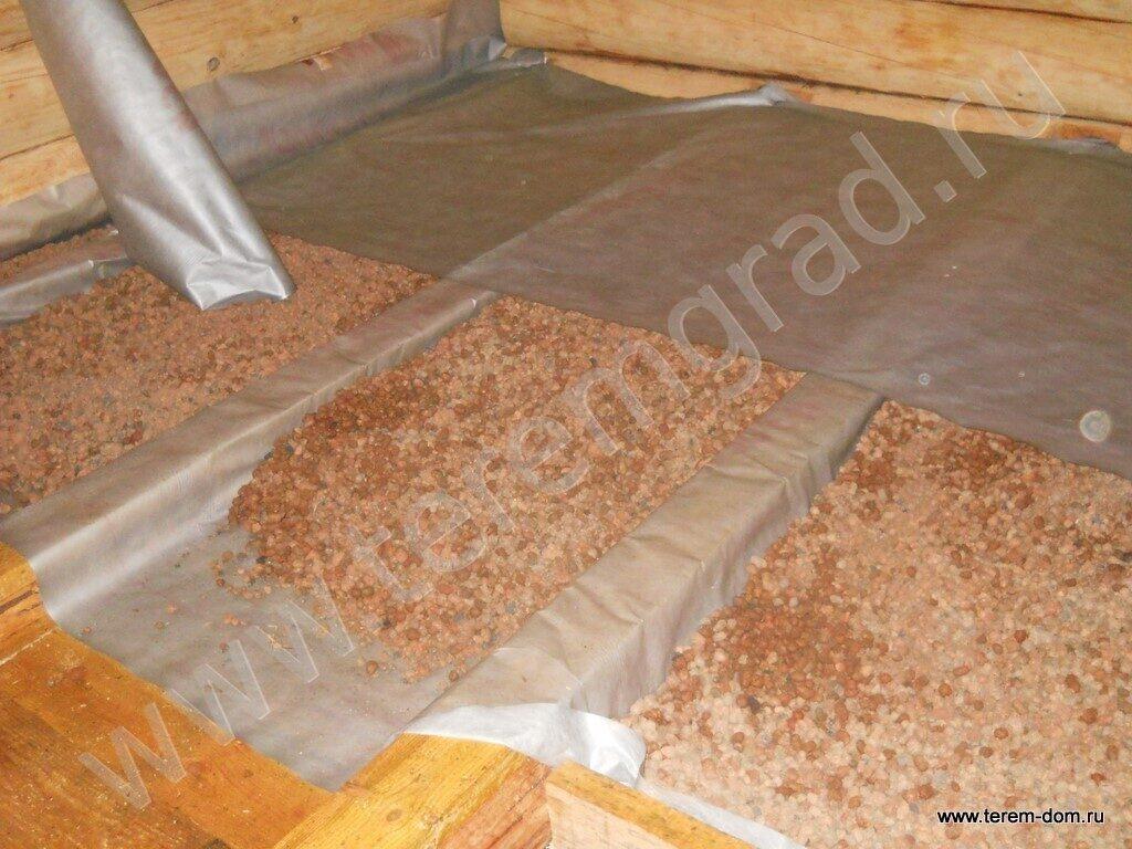 Утепление потолка бани керамзитом своими руками 61
